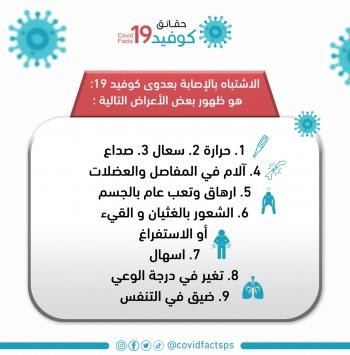 أعراض إشتباه الإصابة بعدوى كوفيد_19